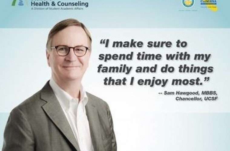 "picture of Sam Hagwood with quote:""I make sure to spend time with my family and do things that I enjoy most"""