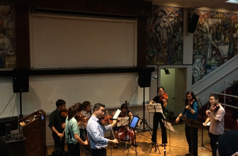 Picture of the Chamber Music Society performing