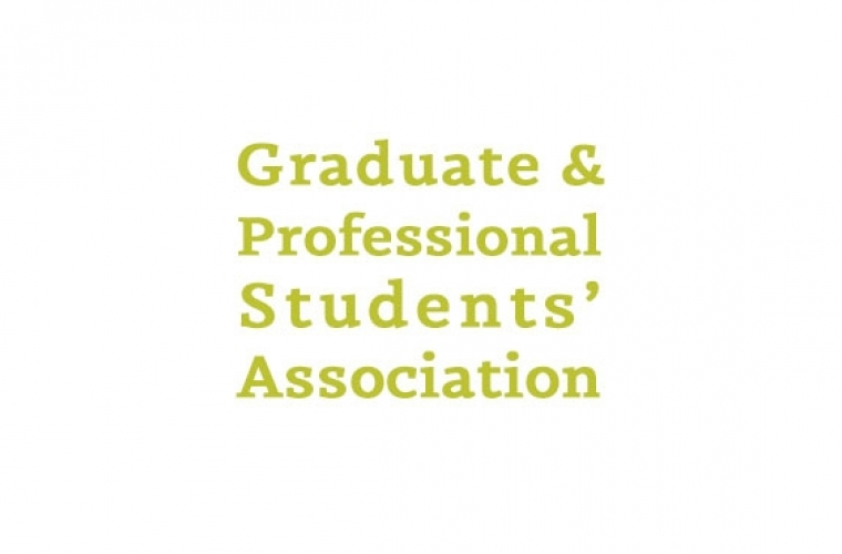 Graduate and Professional Students Association in gold letters