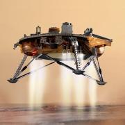 modern spacecraft landing on mars