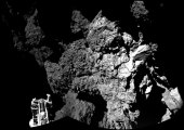 black and white image of a comet