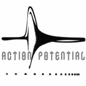 Logo with the words action potential