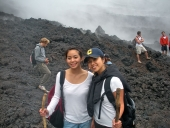 Picture of Authors at volcano