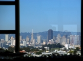 Picture of the view from the UCSF Parnassus Library