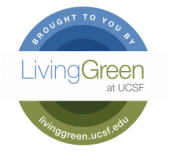 Living Green at UCSF logo