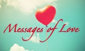 """Heart shape ballon with text """"Messages of Love"""""""