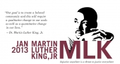 Martin Luther King, Jr event logo and quote