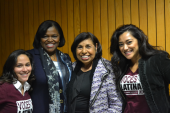 Image of Dr. Renee Navarro and students.