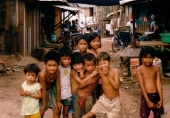 A group of children from the movie A Closer Walk