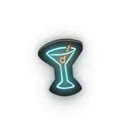 Martini Glass in neon lights