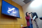 Student performer at Spoken Word event.