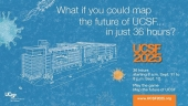 Imgage with the words-What if you could map the future of UCSF in just 36 hours
