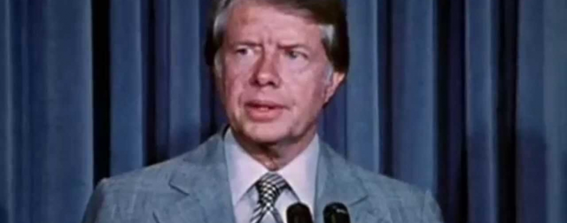 Photo of President Jimmy Carter circa 1977.