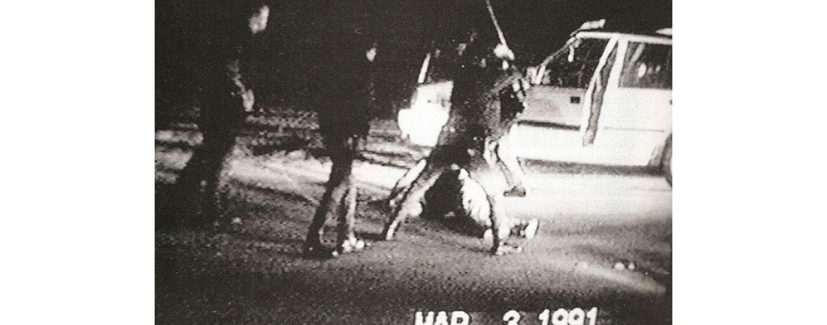 March 1991 image of Rodney King beating.